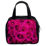 Pink Roses Roses Background Classic Handbags (2 Sides) Front