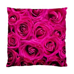 Pink Roses Roses Background Standard Cushion Case (two Sides) by Nexatart