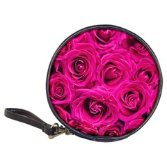 Pink Roses Roses Background Classic 20 Cd Wallets by Nexatart