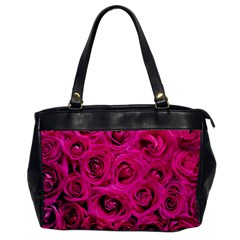 Pink Roses Roses Background Office Handbags by Nexatart