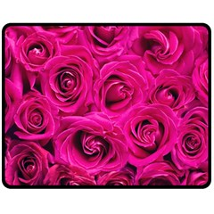Pink Roses Roses Background Fleece Blanket (medium)  by Nexatart