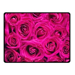 Pink Roses Roses Background Fleece Blanket (small) by Nexatart