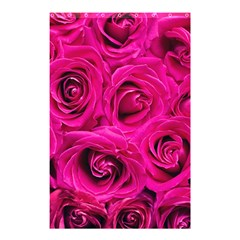 Pink Roses Roses Background Shower Curtain 48  X 72  (small)  by Nexatart