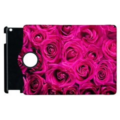 Pink Roses Roses Background Apple Ipad 3/4 Flip 360 Case by Nexatart