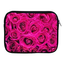 Pink Roses Roses Background Apple Ipad 2/3/4 Zipper Cases
