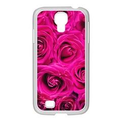 Pink Roses Roses Background Samsung Galaxy S4 I9500/ I9505 Case (white)