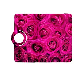 Pink Roses Roses Background Kindle Fire Hdx 8 9  Flip 360 Case by Nexatart