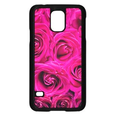 Pink Roses Roses Background Samsung Galaxy S5 Case (black) by Nexatart