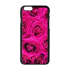 Pink Roses Roses Background Apple Iphone 6/6s Black Enamel Case by Nexatart