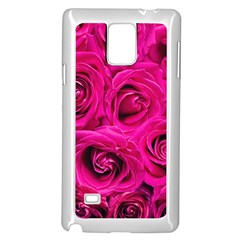 Pink Roses Roses Background Samsung Galaxy Note 4 Case (white)