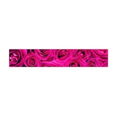 Pink Roses Roses Background Flano Scarf (mini) by Nexatart