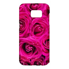 Pink Roses Roses Background Samsung Galaxy S7 Edge Hardshell Case by Nexatart