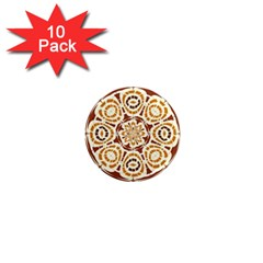 Brown And Tan Abstract 1  Mini Magnet (10 pack)  by linceazul