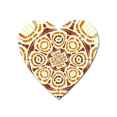 Brown And Tan Abstract Heart Magnet by linceazul