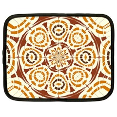 Brown And Tan Abstract Netbook Case (xl)  by linceazul