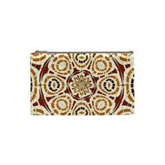Brown And Tan Abstract Cosmetic Bag (small)  by linceazul