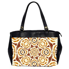 Brown And Tan Abstract Office Handbags (2 Sides)  by linceazul
