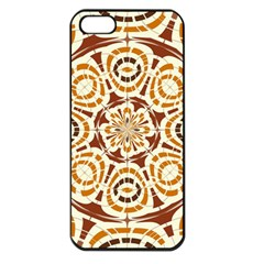 Brown And Tan Abstract Apple Iphone 5 Seamless Case (black) by linceazul