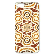 Brown And Tan Abstract Apple Seamless Iphone 5 Case (clear) by linceazul