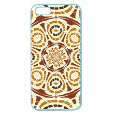 Brown And Tan Abstract Apple Seamless Iphone 5 Case (color) by linceazul