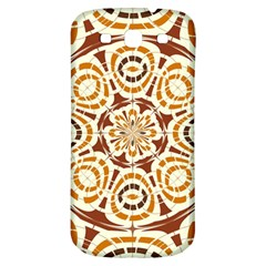 Brown And Tan Abstract Samsung Galaxy S3 S Iii Classic Hardshell Back Case by linceazul