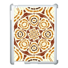 Brown And Tan Abstract Apple Ipad 3/4 Case (white) by linceazul