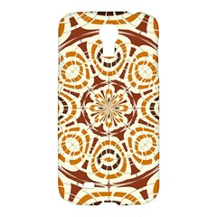 Brown And Tan Abstract Samsung Galaxy S4 I9500/i9505 Hardshell Case by linceazul