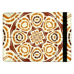 Brown And Tan Abstract Samsung Galaxy Tab Pro 12 2  Flip Case by linceazul