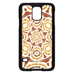 Brown And Tan Abstract Samsung Galaxy S5 Case (black) by linceazul