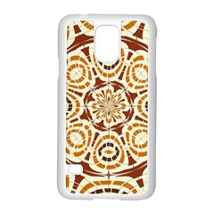 Brown And Tan Abstract Samsung Galaxy S5 Case (white) by linceazul