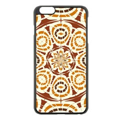 Brown And Tan Abstract Apple Iphone 6 Plus/6s Plus Black Enamel Case by linceazul