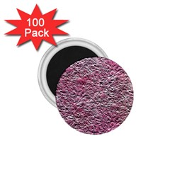 Leaves Pink Background Texture 1 75  Magnets (100 Pack)