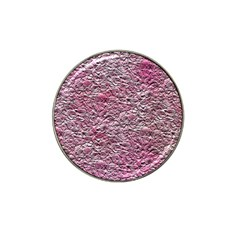 Leaves Pink Background Texture Hat Clip Ball Marker (4 Pack) by Nexatart