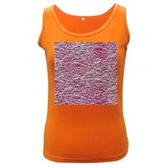 Leaves Pink Background Texture Women s Dark Tank Top