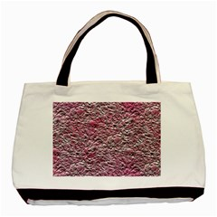 Leaves Pink Background Texture Basic Tote Bag by Nexatart