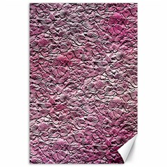 Leaves Pink Background Texture Canvas 24  X 36  by Nexatart