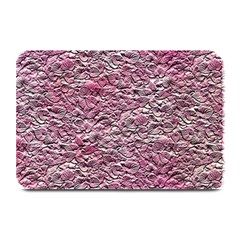 Leaves Pink Background Texture Plate Mats