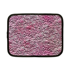 Leaves Pink Background Texture Netbook Case (small)  by Nexatart