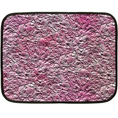 Leaves Pink Background Texture Fleece Blanket (mini) by Nexatart