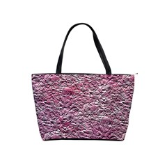 Leaves Pink Background Texture Shoulder Handbags by Nexatart