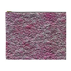 Leaves Pink Background Texture Cosmetic Bag (xl)