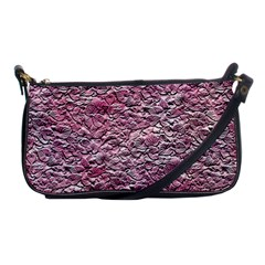 Leaves Pink Background Texture Shoulder Clutch Bags by Nexatart