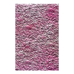 Leaves Pink Background Texture Shower Curtain 48  X 72  (small)  by Nexatart