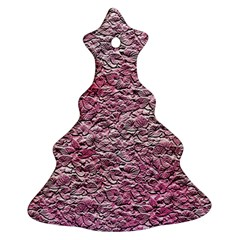 Leaves Pink Background Texture Ornament (christmas Tree)