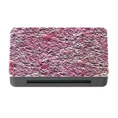 Leaves Pink Background Texture Memory Card Reader With Cf by Nexatart