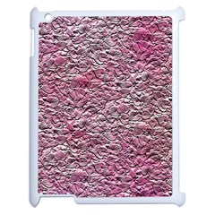 Leaves Pink Background Texture Apple Ipad 2 Case (white) by Nexatart