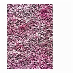 Leaves Pink Background Texture Small Garden Flag (two Sides) by Nexatart