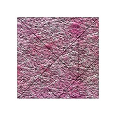 Leaves Pink Background Texture Acrylic Tangram Puzzle (4  X 4 ) by Nexatart