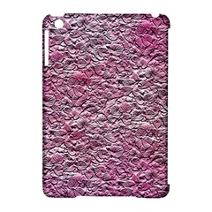Leaves Pink Background Texture Apple Ipad Mini Hardshell Case (compatible With Smart Cover) by Nexatart