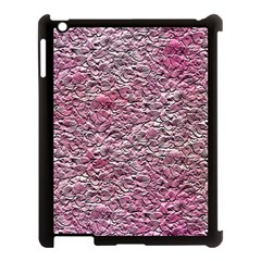 Leaves Pink Background Texture Apple Ipad 3/4 Case (black)